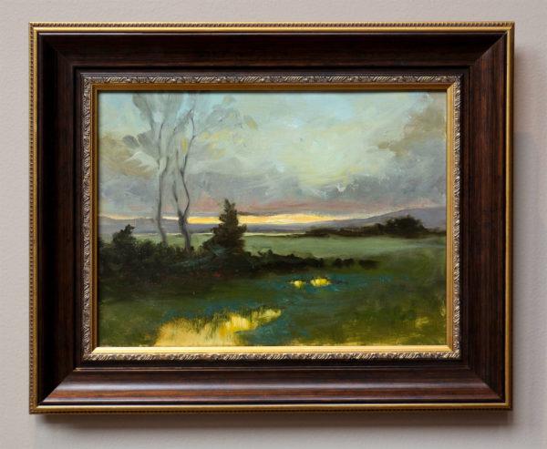 Fields of Salt Marsh with frame