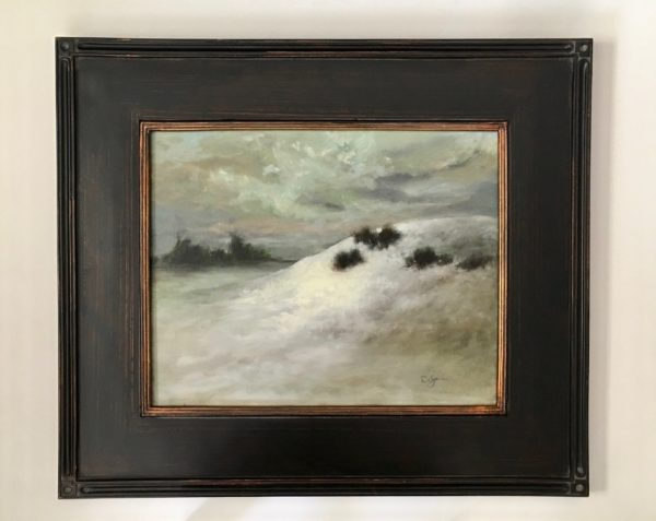 Soft Glow Of Winter's Light with frame