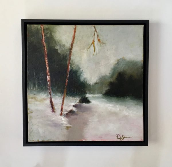 Winter River with frame